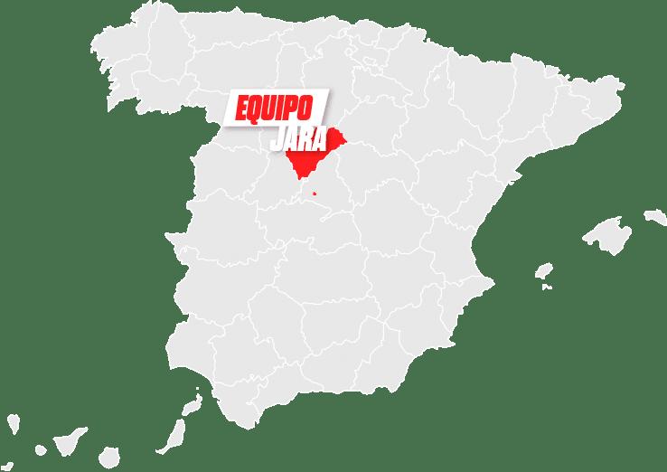 mapa Jara