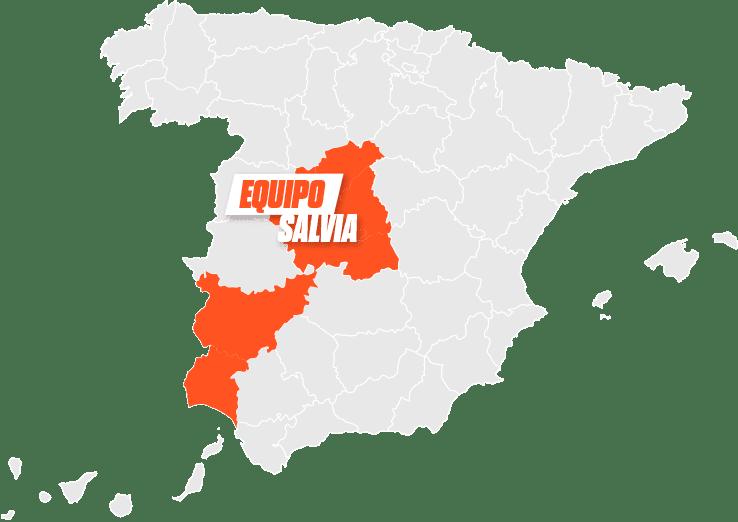mapa Salvia